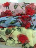 Novo design tecido flor chiffon 3D para vestido de alta qualidade