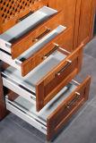 Armoires de rangement de porte de shaker de cabinet de cuisine en bois massif de 2017