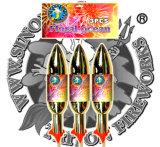 旋風のロケットのクロム染料で染める花火