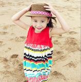 Vestiti dei bambini che cucono cotone ed il vestito nazionale di tela dalla maglia del vento