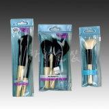 Bolso cosmético del conjunto del regalo claro plástico del PVC para el cepillo del maquillaje