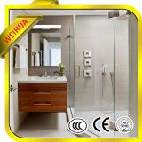 Твердая структура/плоско стекло ясности формы Tempered для панели двери ванной комнаты