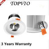 Anluminum Alojamiento 3 años de garantía/CREE COB 50W Downlight LED de interior