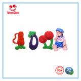 I giocattoli di dentizione di disegno della frutta fresca per i bambini BPA liberano