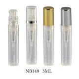 bottiglia fine di plastica riutilizzabile portatile dello spruzzatore del profumo della foschia 3ml (NB151)