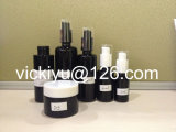 Botellas de aceite esencial de cristal negro de 5m ~ 100ml, botellas de cristal de la loción, botellas de cristal de la farmacia de Violet
