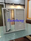 Fixed Louvered Casement ventana, ventana de obturador de aluminio