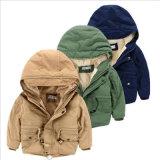 Длиннее содержание куртки Shag втулок теплое для одежд детей