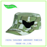 Bordado 3D y casquillo de color caqui de los militares de la impresión