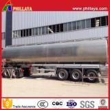 Réservoir de carburant à essence 3axles Semi-remorque Semi-remorque à carburant en acier inoxydable avec volume 30-60cbm