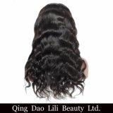 Couleur noire normale Non-Remy de corps de beauté de Lili de l'onde 250% de densité de lacet d'avant de perruque brésilienne de cheveux humains