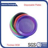 Устранимый пластичный Multicolor круглый контейнер плиты