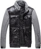 Les hommes nouvelle mode tissu contraste Veste d'hiver