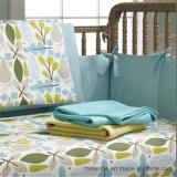 100% imprimé en coton tricoté Literie pour bébés Feuille de lit