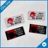 """La altura de 1"""" de la etiqueta textil vestido de plegado lateral roja Etiqueta de la marca de ropa con el símbolo de Japón"""