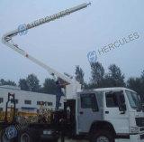Camions de pompiers de tour d'eau soulevant le mécanisme (JP25)