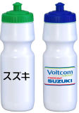 BPA promotionnels libèrent la bouteille potable en plastique avec le logo de propriétaire