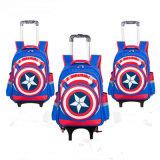 De leerlingen van Schooltas 2-6 sorteren Jongen de Verenigde Staten Kapitein Trolley School Backpack (GB#0299)