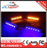 こはく色の青LEDの前部グリルの回転シグナルライト