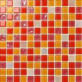 Mosaicos cristalinos del suelo y de la pared del vidrio de mosaico del mosaico del color rojo de la mezcla