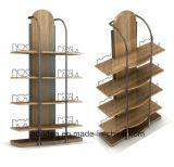 Acero inoxidable y madera y metal y acrílicos de pantalla de la correa de soporte de rack