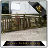 Treppen-Veranda-Portal-Aluminiumbalkon-Geländer