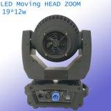 19X12W RGBW 4en1 LED Phare mobile avec zoom