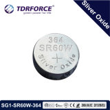 batteria delle cellule del tasto dell'ossido dell'argento della fabbrica di 1.55V Cina per la vigilanza (SR40/379)