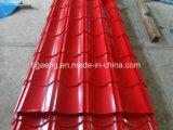Feuille de toiture en relief ondulé Matériaux PPGI toit avec du feutre