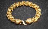 De Armbanden van gouden Mens van het Koper van de Stijl van de Rots van de Link van de Keten van de Kleur van de Juwelen van de Mensen van de Armband Gouden In het groot Trendy