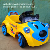 A venda quente caçoa o passeio elétrico no carro do brinquedo