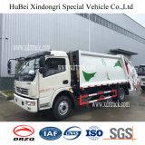 Dongfeng 6-7cbmの圧縮されたガーベージのコンパクターのトラック