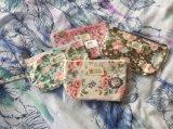 La corsa portatile stampata floreale del sacchetto della nuova annata delle donne di trucco dei sacchetti della chiusura lampo del sacchetto femminile cosmetico delle estetiche compone il sacchetto