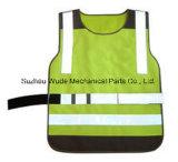 Uve002полиэстер Оксфорд ПВХ/PU Non-Breathable/PU Дышащий слой светоотражающей ткани Майка Worksuit