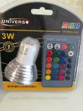 Aluminium mit Fern3w RGB LED Birne