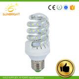 E27 la lámpara de luz LED en espiral