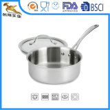 18/10 di vaschetta 2.5qt (CX-STS02) della salsa del Cookware dell'acciaio inossidabile