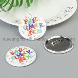Estaño de encargo Bage, divisa del botón del estaño, divisa del botón del Pin, Pin del partido de la escritura de la etiqueta con nombre