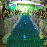Soporte de flor de acrílico transparente de la boda del terminal de componente del camino