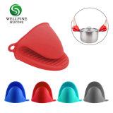 Em silicone resistente ao calor de cozinha luvas de cozinha/ Suporte de potenciômetro