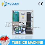 Máquina sanitaria y transparente de 1 tonelada del tubo de hielo