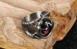 De halfedelsteen belt Huwelijk van het Roestvrij staal van het Kanaal van Vrouwen het Uitstekende Retro Ovale Plaatsende de Robijnrode Giften van de Juwelen van de Halfedelsteen van de Vrouwen van Ringen