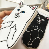 Silikon-Gummi-Kasten des Karikatur Ripndip Lord-Nermal Pocket Cat für iPhone 6/6s/7plus