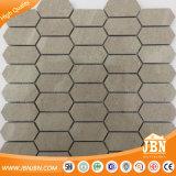 Het grijze Mozaïek van de Tegel van het Porselein van de Verwerking van de Toon Binnen Hexagon (W955013)
