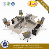 Cloison de séparation blanche de forces de défense principale de poste de travail de bureau de couleur (NS-D053)