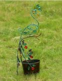 Pavo real clásico del arte del metal con la decoración del jardín del plantador