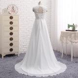 El casquillo Backless de los vestidos nupciales del cordón envuelve las alineadas de boda de playa de Boho Z2028