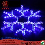 Quirlandes électriques de décoration d'arbre de Noël de Noël de lumière de corde de flocons de neige d'éclairage de DEL