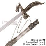 ドラゴンの頭骨の剣のドラゴンの想像のSwordtableの装飾のホーム装飾