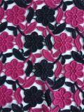 의복을%s 새로운 우아한 형식 디자인 두 배 색깔 자수 폴리에스테 직물
